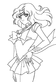 sailor neptune angry sailor moon coloring pages pinterest