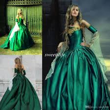 wedding dresses gowns hunter green victorian gothic wedding