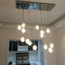 lighting floating bubble chandelier with recessed lighting and