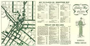 Maps Of Atlanta by 1940s Soldier U0027s Map Of Atlanta