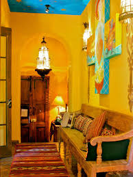 Spanish Home Interiors Lovely Yellow Spanish Home Interior Idea Feat Distressed Wood