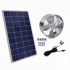 12vdc 65w 3000 cfm solar powered exhaust fan roof vent ventilator