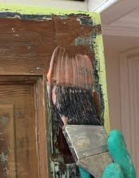 How To Stain Mohagany Doors Youtube by How To Strip Paint Off A Door Pretty Handy
