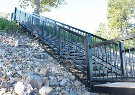 steel and aluminum stairs for waterfront access