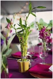 Wedding Flowers Richmond Va Bamboo And Orchids Themed Wedding Centerpiece Wedding Table
