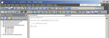 commandbutton click event in excel handled by vb