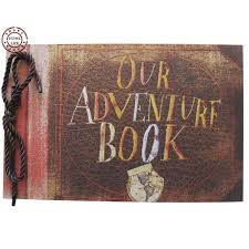 anniversary album our adventure book pixar up scrapbook diy wedding photo