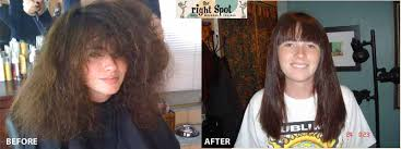 brazilian blowout results on curly hair brazilian blowout the right spot salon hair coloring hair