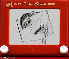 escher drawing hands etch a sketch pictures etch a sketch art