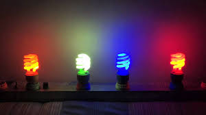 colored fluorescent light bulbs feit colored cfls youtube