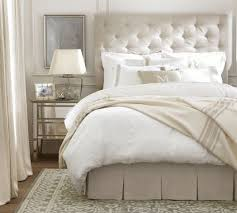 White Cushioned Headboard by Best 20 Grey Tufted Headboard Ideas On Pinterest Cozy Bedroom