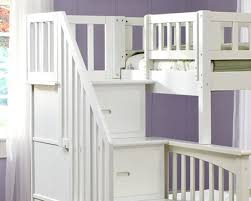 Columbia Twin Over Full Staircase Bunk Bed White Bedroom - White bunk beds twin over full with stairs