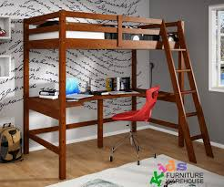cdonco trading espresso loft bed with desk underneath kids study