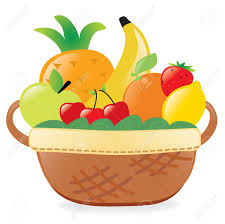 fruit in a basket fruits in a basket royalty free cliparts vectors and stock