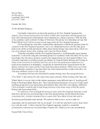 aquarium cover letter