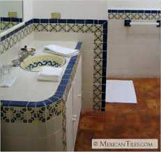mexican tile bathroom designs mexicantiles bath with blue marguerite