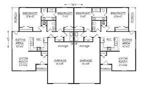 Simple Duplex House Plans Duplex House Plan S1038d