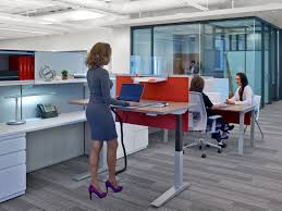 Sit Stand Desk Vancouver by Haworth Compose Workstation With Planes Height Adjustable Table