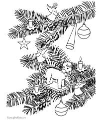 angel christmas tree ornaments coloring pages