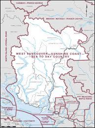 Vancouver Canada On World Map by West Vancouver U2013sunshine Coast U2013sea To Sky Country Maps Corner