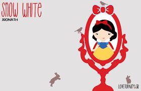 snow white printable files love party gr