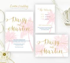 palm tree wedding invitations destination wedding invitation sets lemonwedding