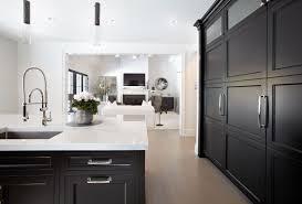 black cabinets look stunning in this manhasset kitchen kitchen
