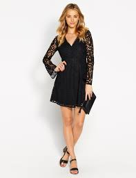 morticia lace bell sleeve dress fashion runway clothing for