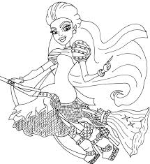 trendy casta fierce monster high coloring page with monster high