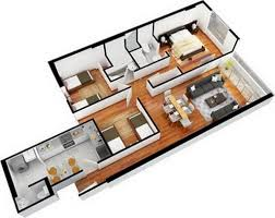 2 room flat floor plan wohndesign exquisit 3 bedroom two apartments apartment floor