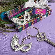 mardi gras party favors mardi gras mask silver metal key chain mardi gras