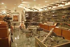 man cave or weapon arsenal a little of both i would think