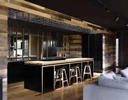 cuisine bois design cuisine bois et noir meilleur idées de conception de maison