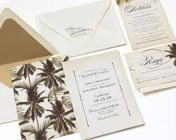 palm tree wedding invitations destination wedding invitation etsy