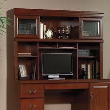 Sauder Harbor View Computer Desk With Hutch Salt Oak furniture charming sauder computer desks with variant utilities