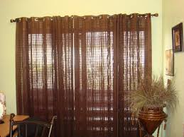interior red burgundy blackout panel curtain with sliding door
