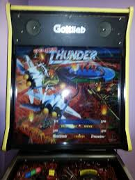 operation thunder pinball machine game for sale by gottlieb top