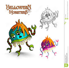 Scary Halloween Monsters by Halloween Monsters Scary Cartoon Freak Eps10 File Stock