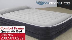 Inflatable Bed With Frame Intex Queen Size Comfort Frame Air Bed Youtube