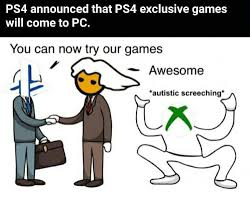 Meme Creator Pc - ps4 announced that ps4 exclusive games will come to pc you can now