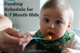 table food ideas for 9 month old the best 6 and 7 month old feeding schedule so easy to follow