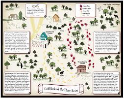 goldilocks and the three bears fairy tale map