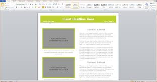 3 microsoft word newsletter template outline templates