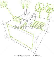 sketches sources renewable energy wind turbine stock illustration