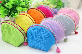 purse gift bags craft small zipper shell coin purse gift packaging bag real
