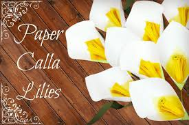 paper calla lily template u0026 tutorial diy paper flower