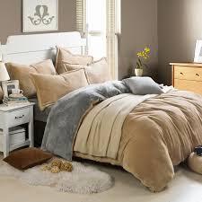 winner fleece bedding set velvet bed linen set pure color set warm