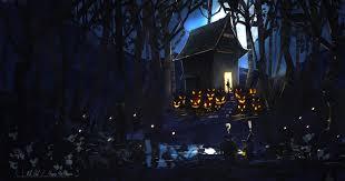 halloween background characters spooky halloween backgrounds wallpapersafari