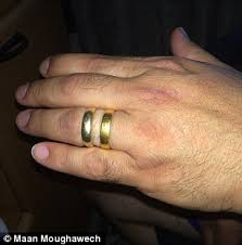 wedding ring with two bands maan moughawech finds his wedding ring 15 years after the band
