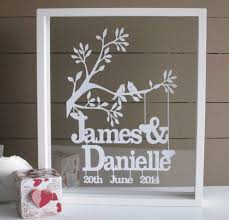wedding gift australia personalised wedding anniversary or valentines papercut keepsake